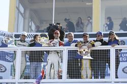 Podio: vincitore della gara Facundo Ardusso, secondo posto Agustin Canapino, terzo posto Omar Martinez