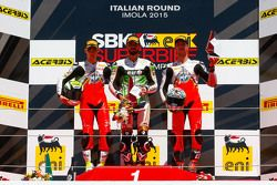 Podyum: Jules Cluzel, MV Agusta, Kenan Sofuoglu, Puccetti Racing Kawasaki, Lorenzo Zanetti, MV Agust