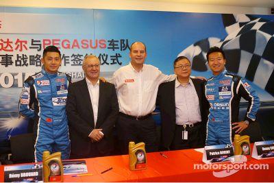 Bekanntgabe: Pegasus Racing und Total
