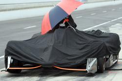 Stefano Coletti, KV Racing Technology, während einer Regenpause