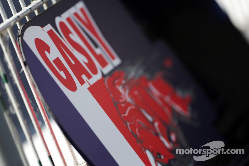 Cartello pit per Pierre Gasly, Scuderia Toro Rosso Test Driver