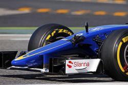 Marcus Ericsson, Sauber C34, una cámara colocada en el auto