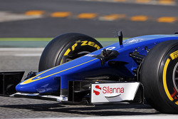 Marcus Ericsson, Sauber C34 avec une caméra visant l'aileron avant