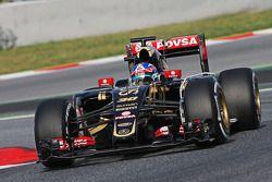 Jolyon Palmer, Lotus F1 E23 piloto de pruebas y de reserva corriendo el equipo de sensor