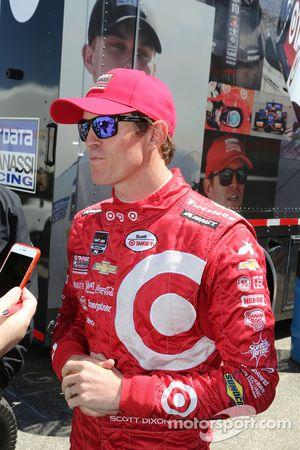 Scott Dixon, Chip Ganassi Racing habla con los medios de comunicación