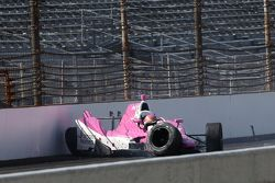 Pippa Mann, Dale Coyne Racing Honda in un grave incidente