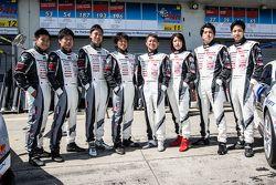Gazoo Racing photoshoot: #53 Gazoo Racing Lexus LFA Code X: Masahiko Kageyama, Hiroaki Ishiura, Kazuya Oshima, Takuto Iguchi and #187 Gazoo Racing Lexus RC: Takayuki Kinoshita, Kumi Sato, Maoya Gamo, Takamitsu Matsui
