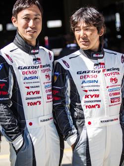 Gazoo Racing fotoshoot: Hiroaki Ishiura en Masahiko Kageyama