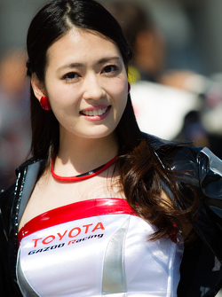 A charming Gazoo Racing girl
