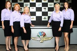 Grace Autosport key personnel with Katherine Legge (far right) and Beth Peretta