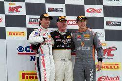 Class winners: GTA winner Bryan Heitkotter, GT winner Johnny O'Connell, GTS winner Colin Thompson