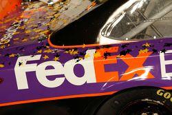 Detail of the Joe Gibbs Racing Toyota in victory lane