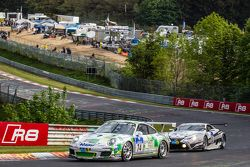 #74 Getspeed Performance Porsche 997 GT3 Cup: Ulrich Berg, Patrik Kaiser, #53 Gazoo Racing Lexus LFA