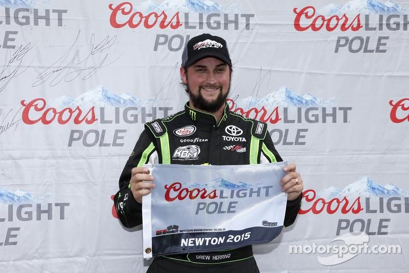 Polesitter Drew Herring, Joe Gibbs Racing Toyota