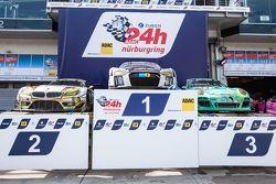 Podium cars: race winner #28 Audi Sport Team WRT Audi R8 LMS, second place #25 Marc VDS Racing BMW Z4 GT3, third place #44 Team Falken Tire Porsche 997 GT3 R