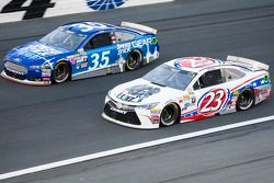 Cole Whitt, Front Row Motorsports Ford and J.J. Yeley, BK Racing Toyota