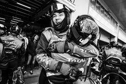 Audi Sport Team WRT team members celebrate after the last pit stop for #28 Audi Sport Team WRT Audi