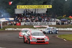 Matías Rossi, Toyota Team Argentina, Facundo Chapur, Equipo Fiat Petronas, y Franco Vivian, Equipo YPF Chevrolet