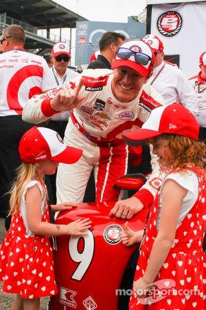 Scott Dixon, Chip Ganassi Racing fête sa pole position