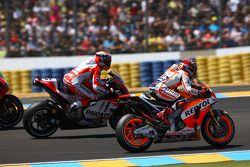 Marc Marquez, Repsol Honda Team et Andrea Dovizioso, Ducati Team