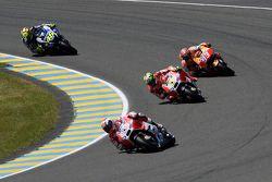 Andrea Dovizioso, Andrea Iannone, Ducati Team, Marc Marquez, Repsol Honda Team et Valentino Rossi, Yamaha Factory Racing