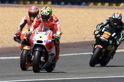 Andrea Iannone, Ducati Team, Marc Marquez, Repsol Honda team et Bradley Smith, Tech 3 Yamaha