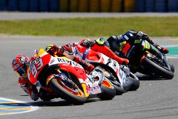 Marc Marquez, Repsol Honda Team and Andrea Iannone, Ducati Team and Bradley Smith, Tech 3 Yamaha