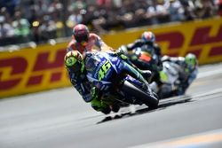 Valentino Rossi, Yamaha Factory Racing and Marc Marquez, Repsol Honda Team and Bradley Smith, Tech 3