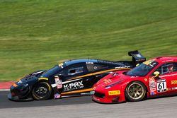 #9 K-Pax Racing McLaren 650S GT3: Kevin Estre #61 R. Ferri Motorsport Ferrari 458 GT3 Italia: Olivie