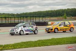 Ильдар Рахматуллин, Renault, и Михаил Митяев, Lada