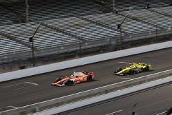 Simona de Silvestro, Andretti Autosport Honda and Sage Karam, Chip Ganassi Racing Chevrolet