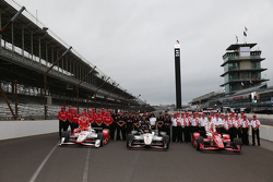 Die erste Startreihe: Simon Pagenaud, Team Penske, Chevrolet; Will Power, Team Penske, Chevrolet, un