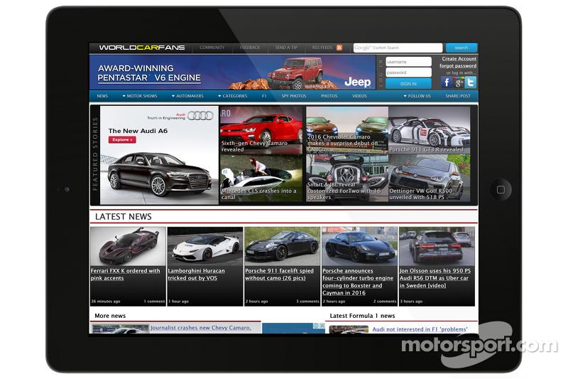 Скриншот Worldcarfans.com