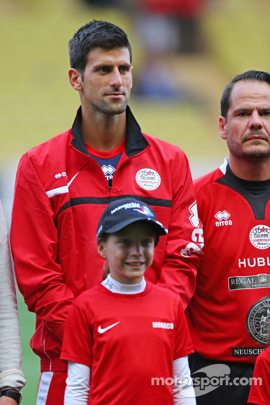 Novak Djokovic Tennis Player на благодійному футбольному матчі