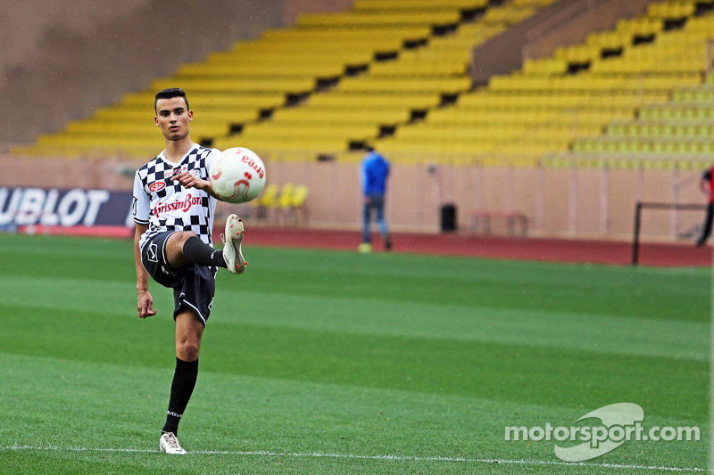 Pascal Wehrlein Mercedes AMG F1 Reserve Driver at the charity football match