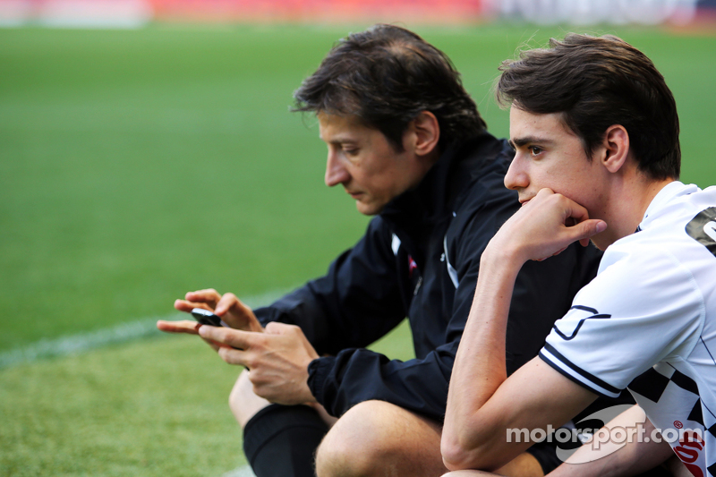 Esteban Gutierrez Ferrari Test and Reserve Driver and Massimo Rivola Ferrari Sporting Director at th