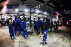 Team Falken Tire team members ready for a pit stop