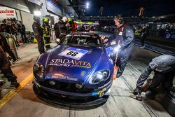 Pit stop for #88 Stadavita Racing Team Aston Martin Vantage V8 GT4: Scott Preacher, Robert Thomson