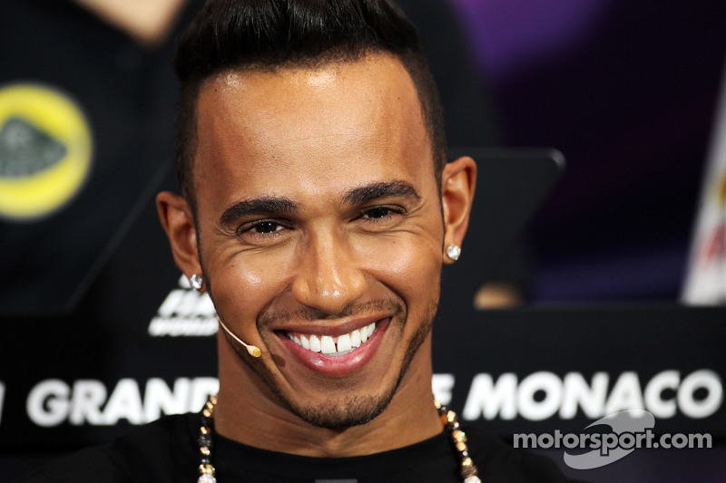 Lewis Hamilton, Mercedes AMG F1, in der FIA-Pressekonferenz