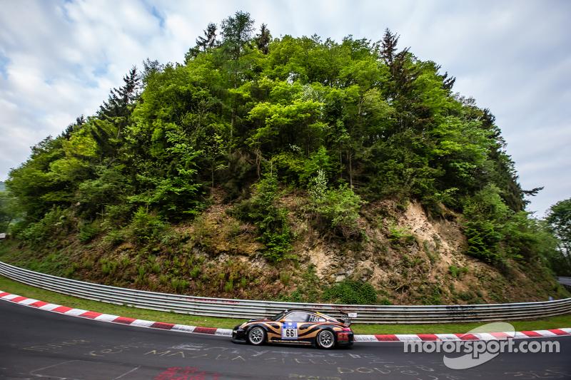#66 Kurt Ecke Motorsport, Porsche 997 GT3 Cup: Sebastian Glaser, Andreas Sczpansky, Steffen Schlichenmeier, Kurt Ecke