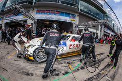 Pit stop for #23 Rowe Racing Mercedes-Benz SLS AMG GT3: Klaus Graf, Christian Hohenadel, Nico Bastia