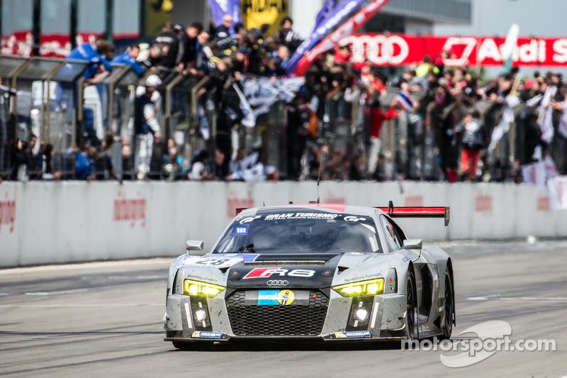 #28 Audi Sport Team WRT Audi R8 LMS : Christopher Mies, Edward Sandström, Nico Müller, Laurens Vanthoor démarrent leur dernier tour