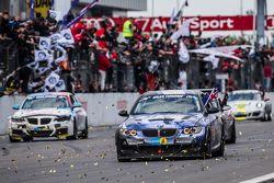Checkered flag: #51 Adrenalin Motorsport BMW 335i E92: Niels Borum, Maurice O'Reilly, Michael Eden,