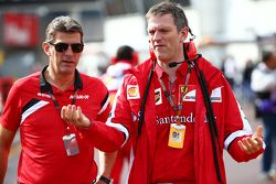 (L to R): Graeme Lowdon, Manor F1 Team Chief Executive Officer with James Allison, Ferrari Chassis T