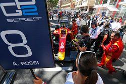Ombrellina per il detentore della pole Alexander Rossi, Racing Engineering