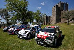 Foto di gruppo delle squadre: Volkswagen Motorsport, Hyundai Motorsport, M-Sport Ford WRC, Citroën W
