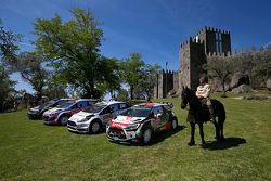 Foto di gruppo delle squadre: Volkswagen Motorsport, Hyundai Motorsport, M-Sport Ford WRC, Citroën World Rally Team