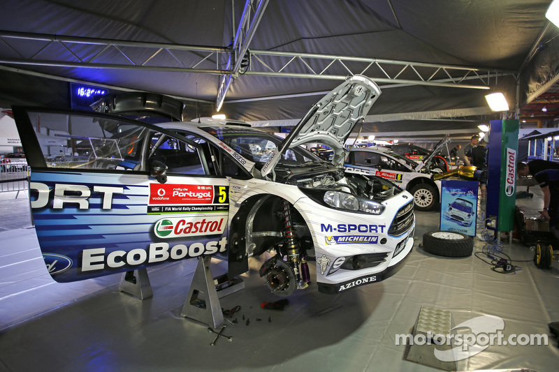 M-Sport Ford WRC team area