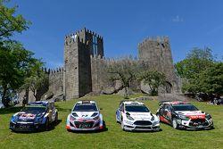 Equipos sesión fotográfica: Volkswagen Motorsport, Hyundai Motorsport, M-Sport Ford WRC, Citroën Wor