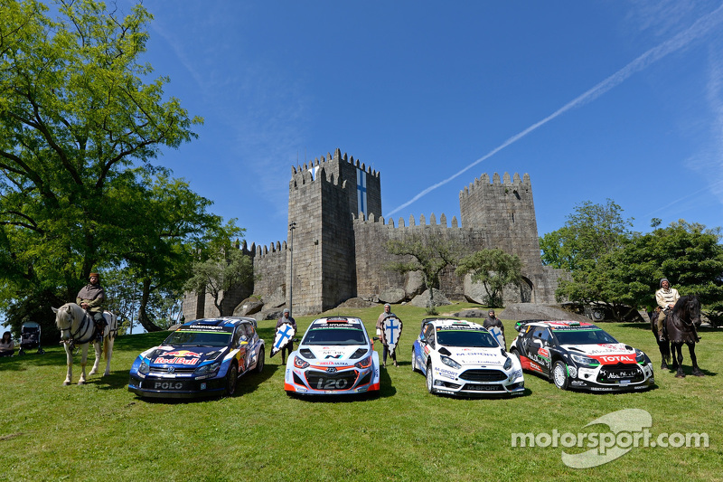 Teams-Fotoshooting: Volkswagen Motorsport, Hyundai Motorsport, M-Sport Ford WRC, Citroën World Rally Team